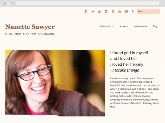 Nanette Sawyer website