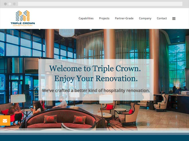 Triple Crown Construction website