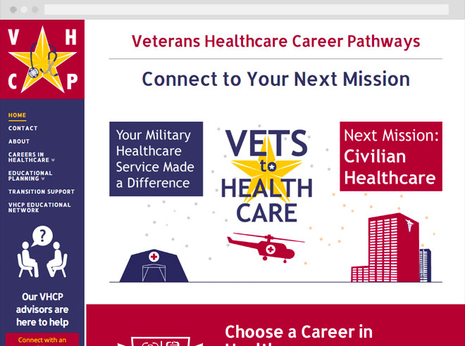 Veterans Healthcare Career Pathways website
